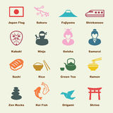 Elementos japoneses Imagem de Stock