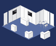 Elementos justos del vector de la cabina del soporte del espacio en blanco de la exposición ilustración del vector