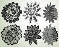 Elementos laçado da flor Fotografia de Stock Royalty Free