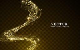 Elementos ligeros de oro ilustración del vector