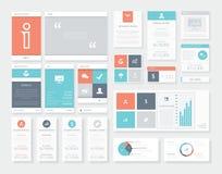 Elementos limpios y frescos del vector del infographics de la interfaz de usuario (ui) Imágenes de archivo libres de regalías