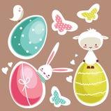 Elementos lindos del diseño de Pascua ilustración del vector