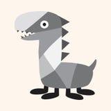 Elementos lisos do ícone do monstro estranho, eps10 Imagens de Stock