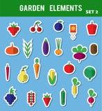 Elementos lisos do jardim Imagem de Stock Royalty Free