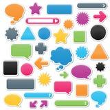 Elementos lisos do Web Ilustração Stock