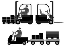 Elementos logísticos do equipamento Foto de Stock Royalty Free