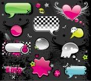 Elementos lustrosos coloridos do Web Fotos de Stock Royalty Free