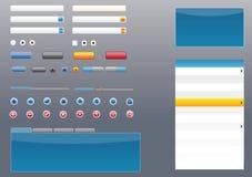 Elementos lustrosos e os mais atrasados do estilo GUI/UI