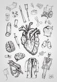 Elementos médicos ilustración del vector