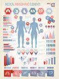 Elementos médicos del infographics. Foto de archivo