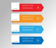 Elementos mínimos modernos da seta para o infographics do negócio ilustração do vetor