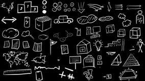 Elementos a mano e iconos metrajes