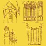Elementos medievais ilustração stock