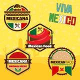 Elementos mexicanos Fotografia de Stock