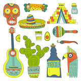 Elementos mexicanos Imagem de Stock Royalty Free