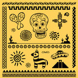 Elementos mexicanos del diseño Fotos de archivo