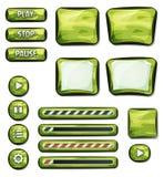 Elementos militares de Camo para el juego de Ui Fotos de archivo libres de regalías