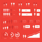 Elementos modernos de Infographic Foto de archivo libre de regalías