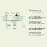 Elementos modernos de Infographic Imagens de Stock