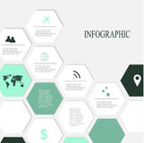Elementos modernos de Infographic Imagem de Stock Royalty Free