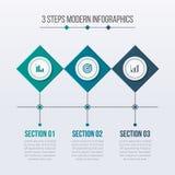 Elementos modernos de Infographics con 03 pasos libre illustration
