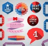Elementos modernos del diseño del promo Imágenes de archivo libres de regalías