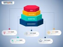 Elementos modernos del infographics del paso Paso de la escalera a la plantilla infographic del concepto del negocio del éxito pu Fotos de archivo libres de regalías