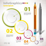 Elementos modernos del vector para el infographics con los círculos Fotos de archivo