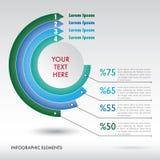 Elementos modernos do infographics. Fotografia de Stock Royalty Free