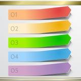 Elementos modernos do infographics da etiqueta da seta do vetor Fotografia de Stock