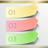 Elementos modernos do infographics da etiqueta da seta do vetor Imagens de Stock