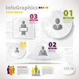 Elementos modernos do vetor para o infographics com jornal das sucatas Fotos de Stock Royalty Free