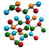 Elementos moleculares de la química Imágenes de archivo libres de regalías