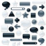 Elementos monocromáticos do Web Fotos de Stock
