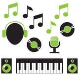 Elementos musicales Imagen de archivo libre de regalías