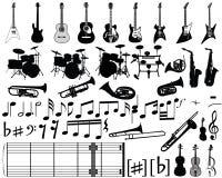 Elementos musicales Fotografía de archivo libre de regalías