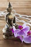 Elementos naturais para a ainda-vida do tratamento dos termas com mindset do zen Imagens de Stock