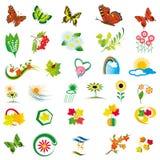Elementos naturais para o projeto Imagem de Stock Royalty Free