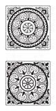 Elementos no estilo oriental círculo Fotografia de Stock Royalty Free