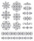 Elementos ornamentales Imagen de archivo libre de regalías