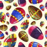 Elementos ornamentales de la acuarela de Pascua de los huevos de la belleza de la pizca colorida inconsútil pintada a mano del mo libre illustration