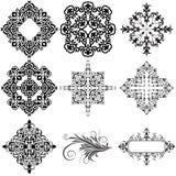 Elementos ornamentales del diseño stock de ilustración
