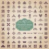 Elementos ornamentales para la decoración del diseño y de la página Fotos de archivo libres de regalías