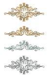 Elementos oro y plata del diseño Fotografía de archivo