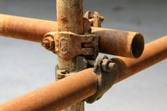 Elementos oxidados del andamio del metal Foto de archivo libre de regalías