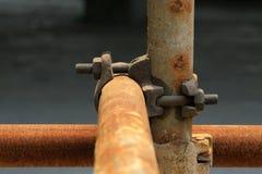 Elementos oxidados del andamio del metal Fotos de archivo libres de regalías
