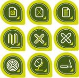Elementos P. 12a del diseño Imagen de archivo libre de regalías