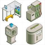 Elementos P. 18c del diseño Foto de archivo