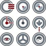 Elementos P. 7a del diseño Imagen de archivo libre de regalías
