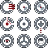 Elementos P. 7a do projeto Imagem de Stock Royalty Free